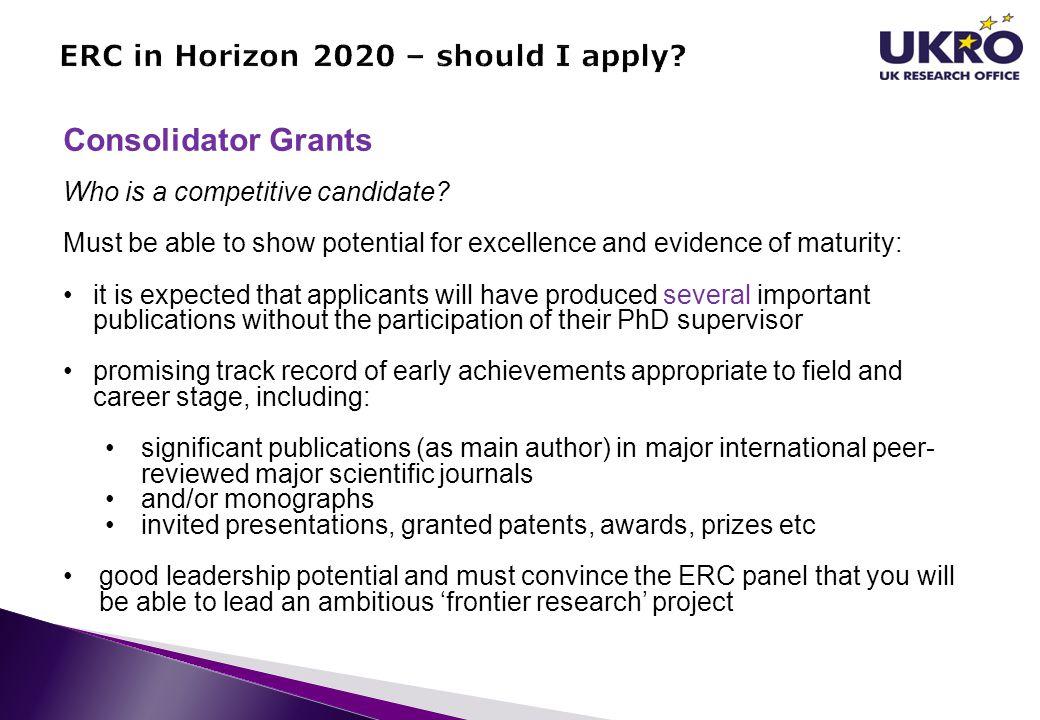 ERC in Horizon 2020 – should I apply