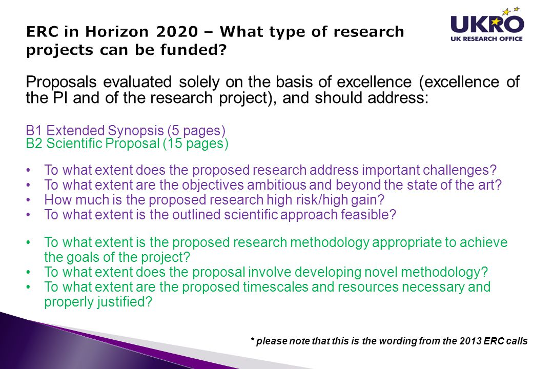 ERC in Horizon 2020 – What type of research projects can be funded