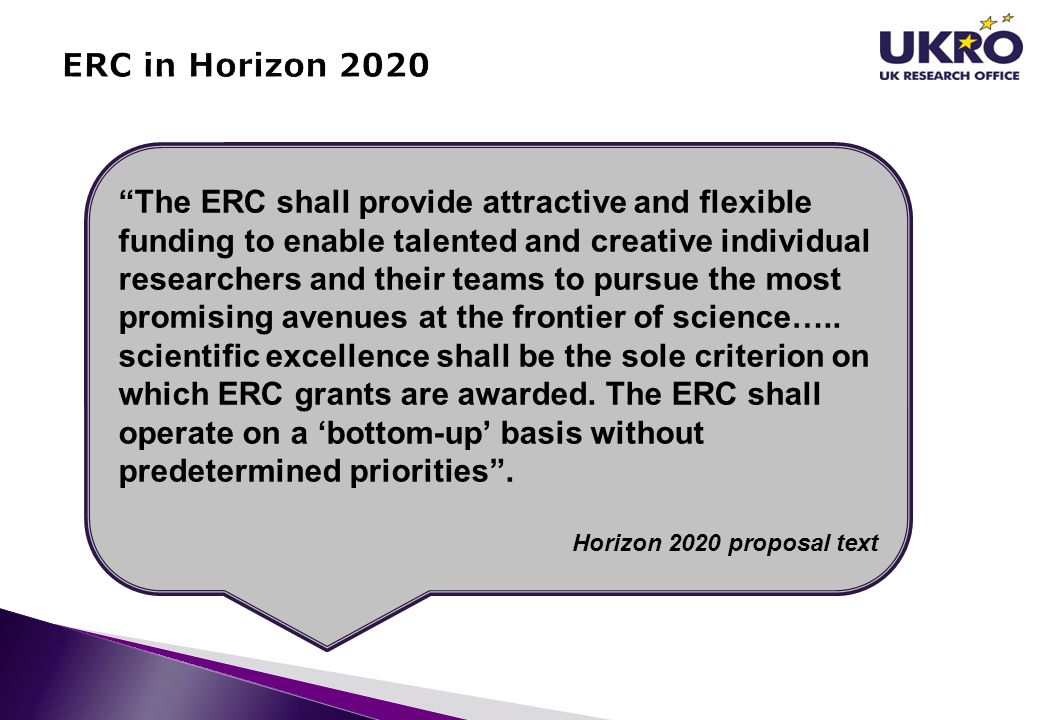 ERC in Horizon 2020