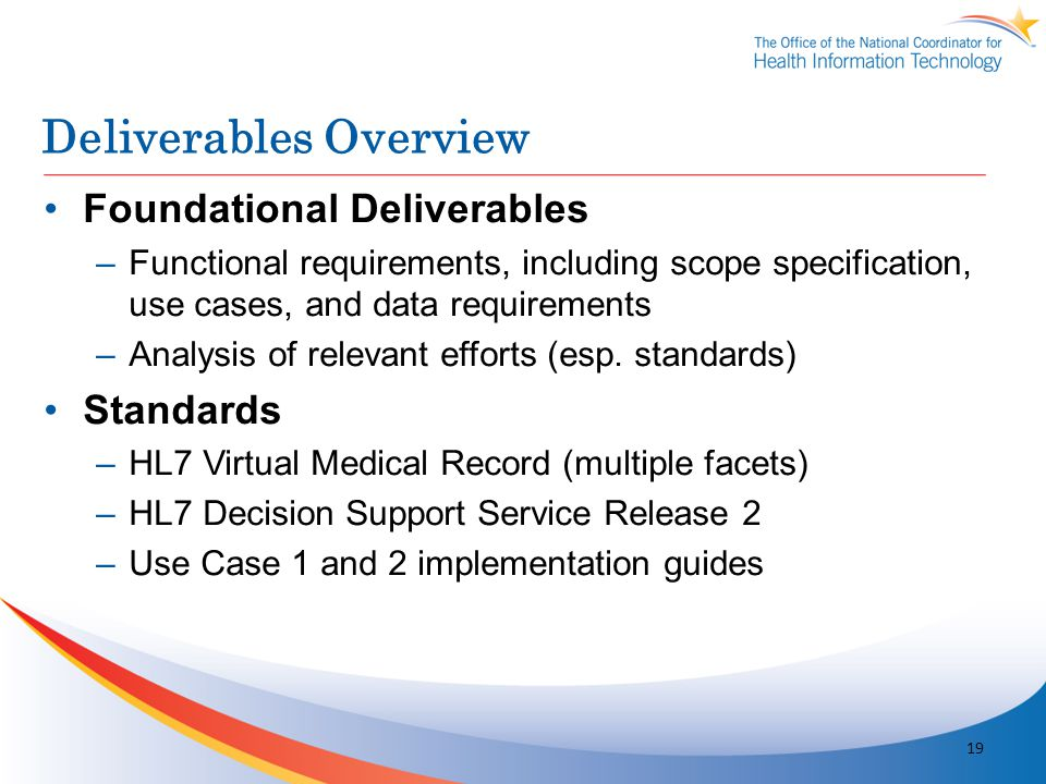 Deliverables Overview