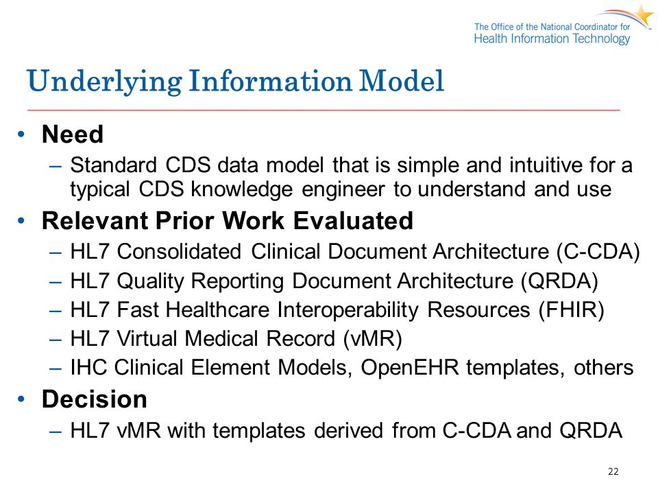 Underlying Information Model