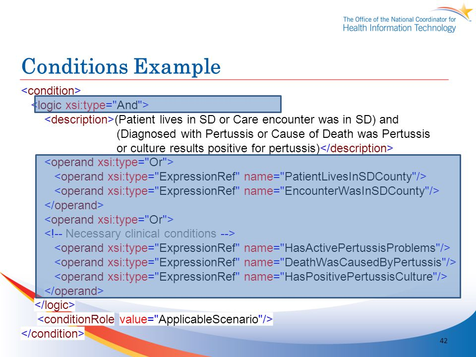 Conditions Example <condition> <logic xsi:type= And >