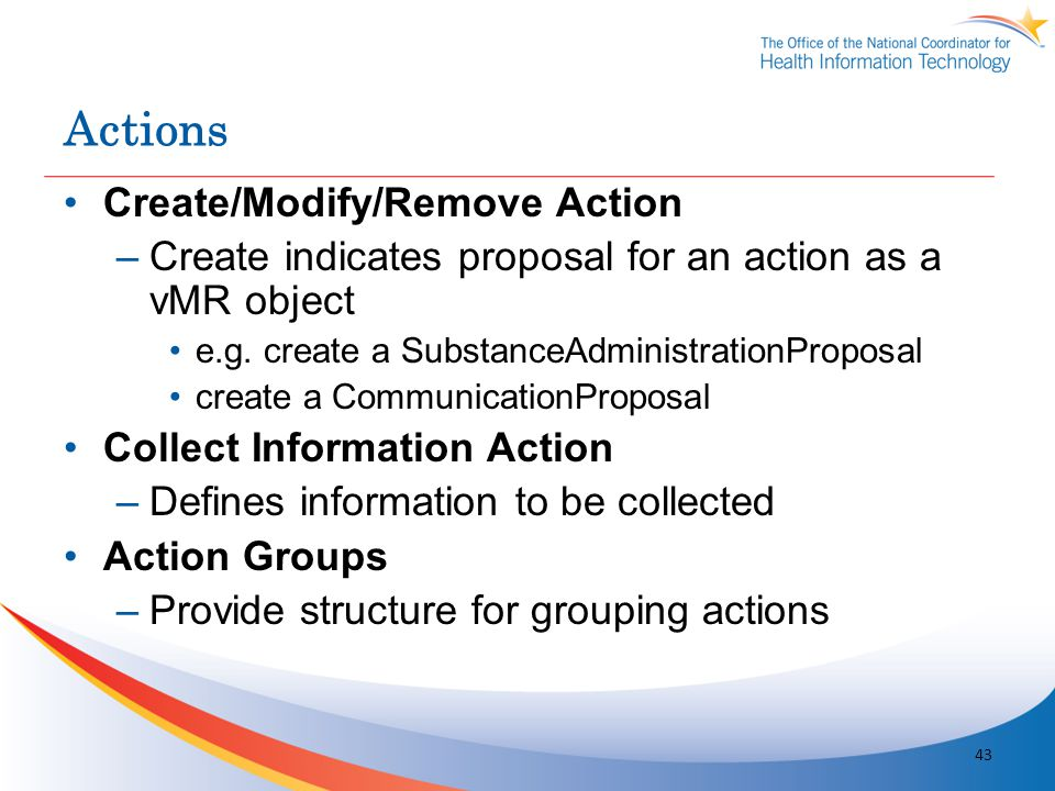 Actions Create/Modify/Remove Action