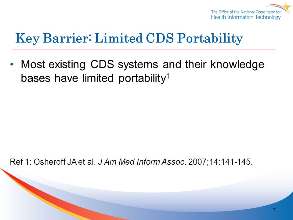 Key Barrier: Limited CDS Portability