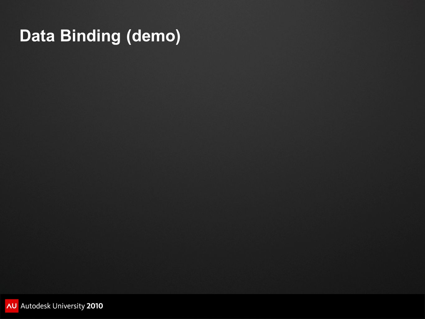 Data Binding (demo)