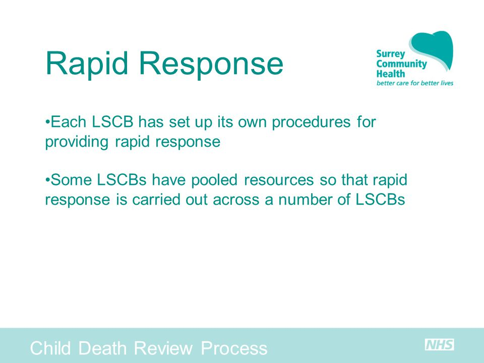 Rapid Response Child Death Review Process