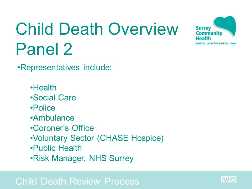 Child Death Overview Panel 2 Child Death Review Process