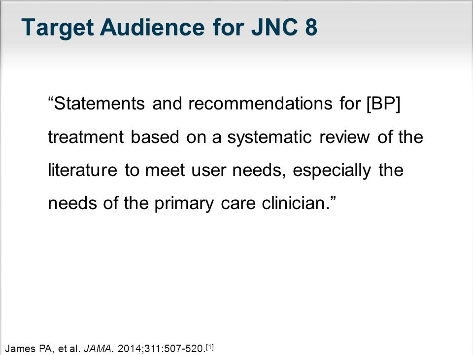 Target Audience for JNC 8