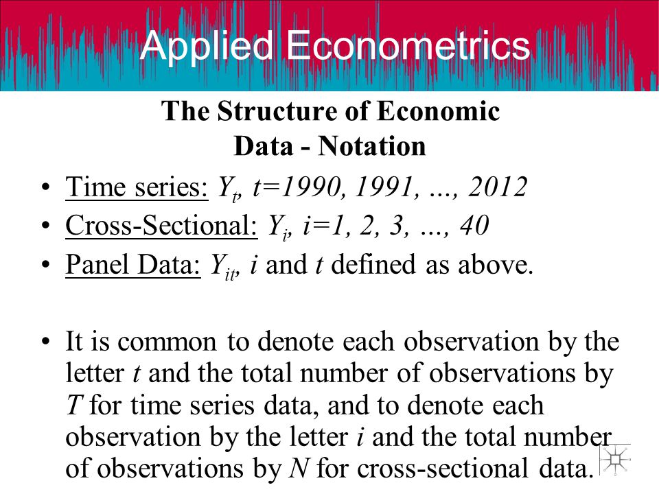 The Structure of Economic Data - Notation