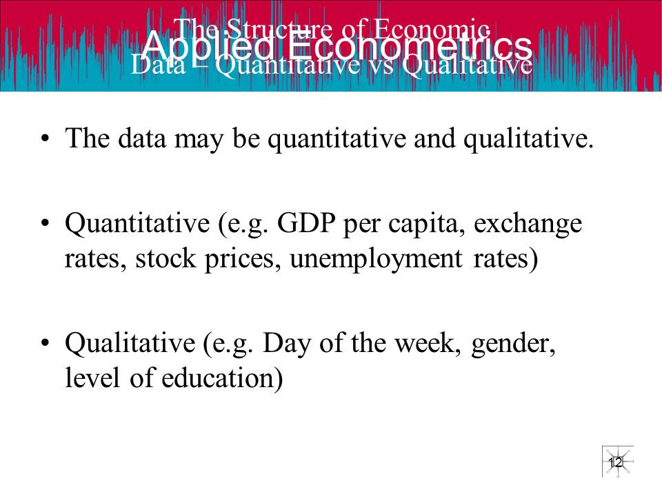 The Structure of Economic Data – Quantitative vs Qualitative