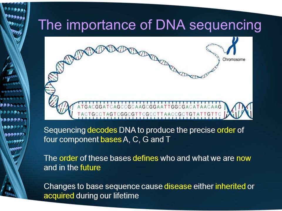 The importance of DNA sequencing
