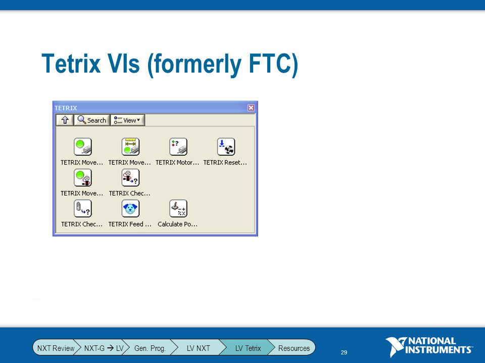 Tetrix VIs (formerly FTC)