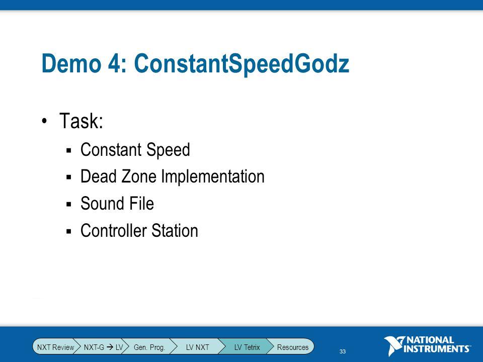 Demo 4: ConstantSpeedGodz