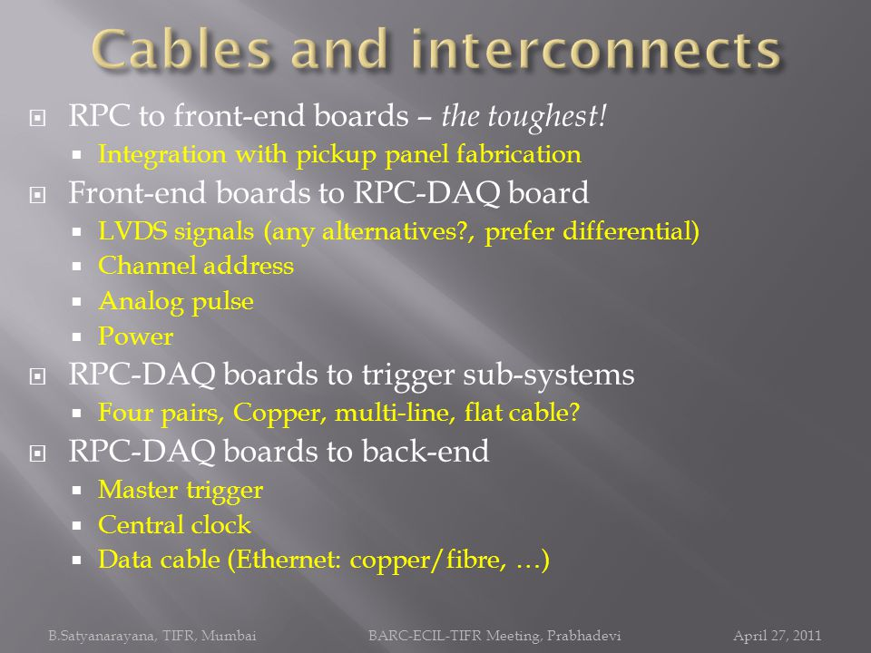 Cables and interconnects