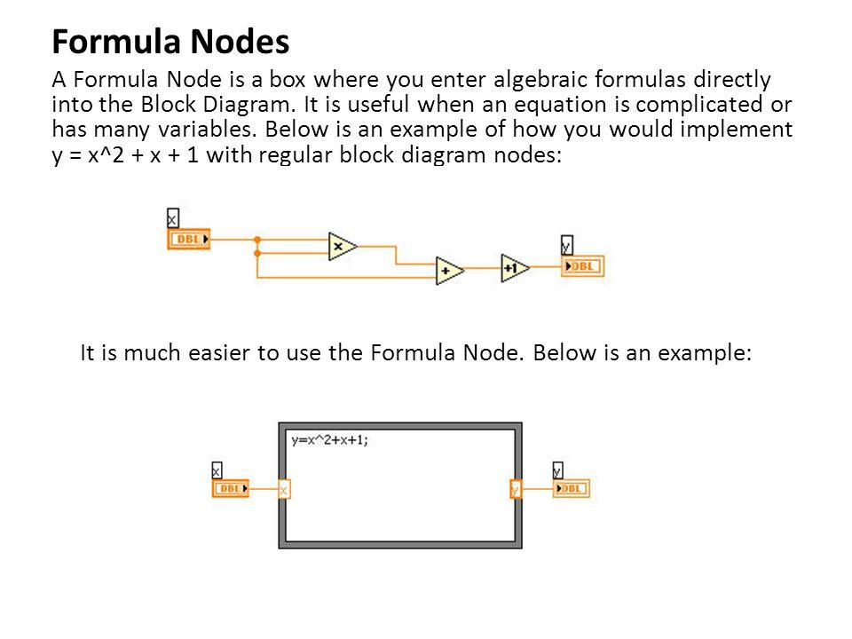 Formula Nodes