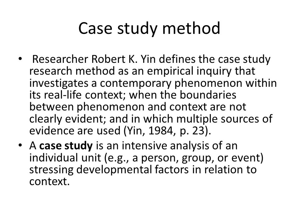 case study yin 1984 Theory name: case study method of instruction yin, r (1984) case study research: design and methods (1st ed) beverly hills, ca: sage publishing.