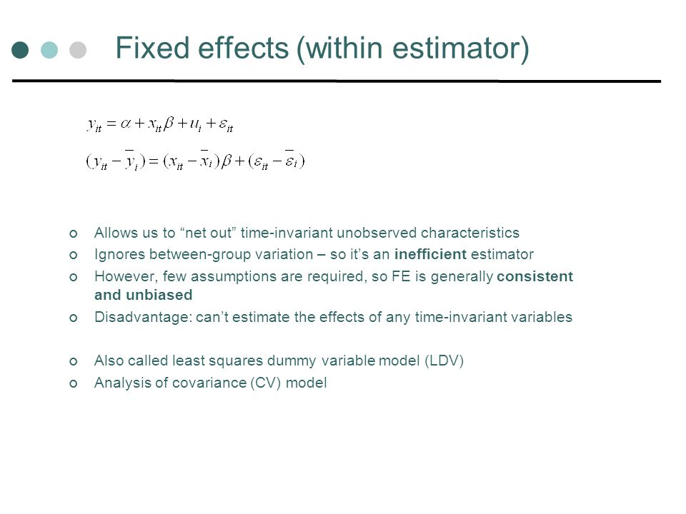 Fixed effects (within estimator)
