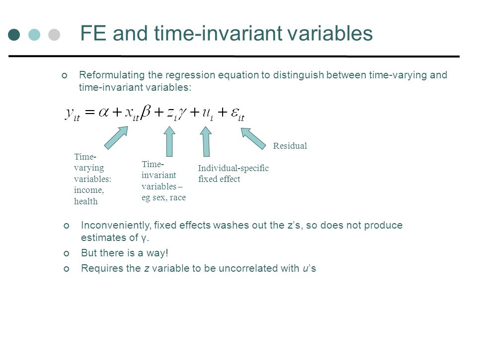 FE and time-invariant variables