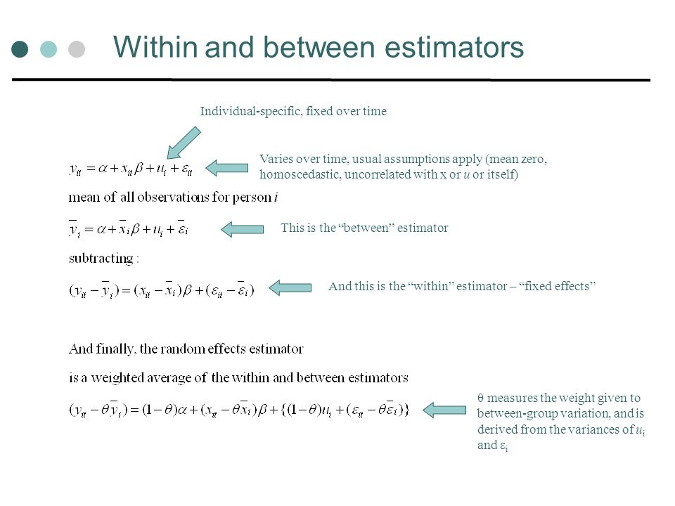 Within and between estimators