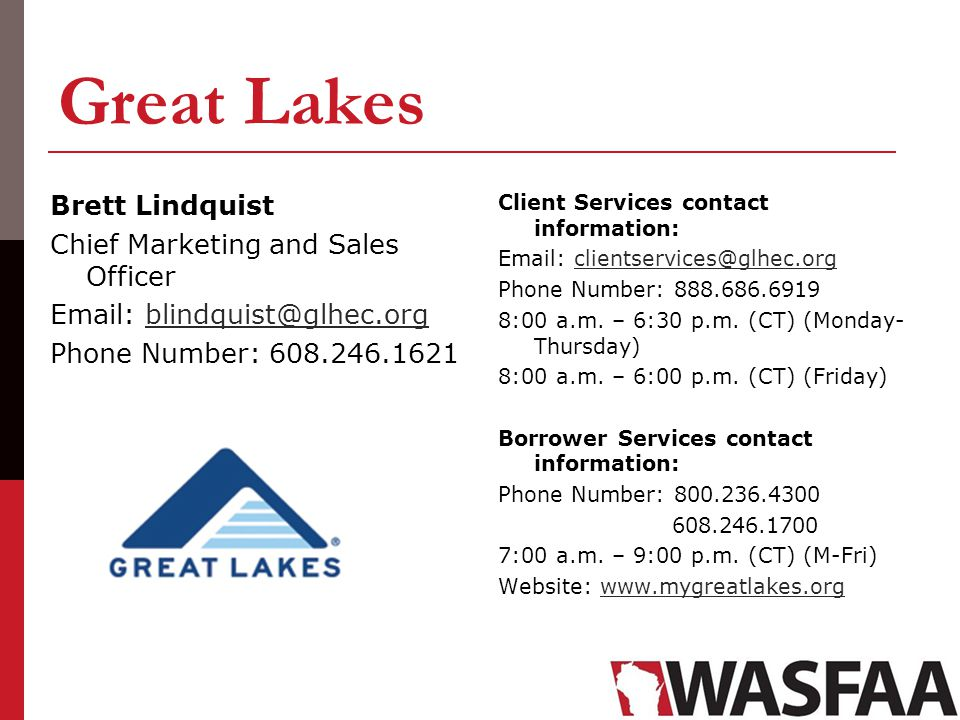 Great Lakes Brett Lindquist Chief Marketing and Sales Officer