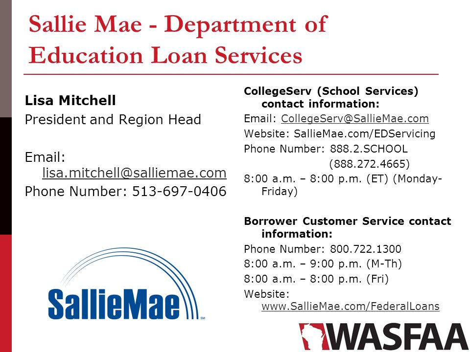 Sallie Mae - Department of Education Loan Services