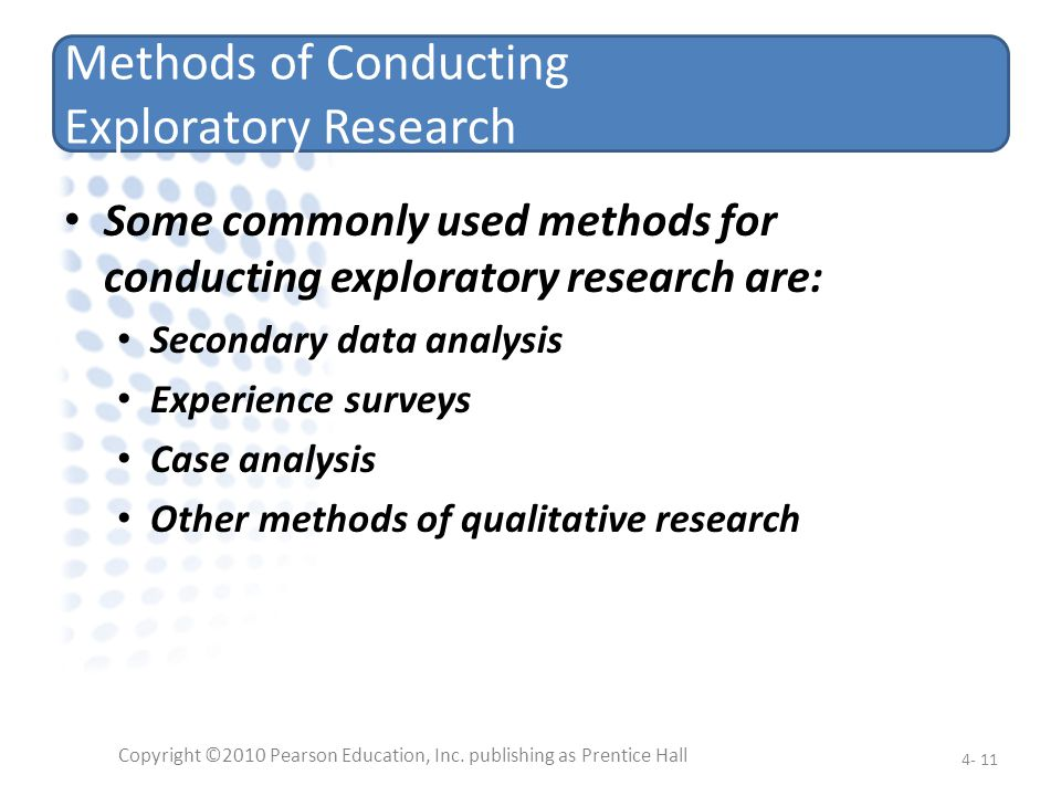 Methods of Conducting Exploratory Research