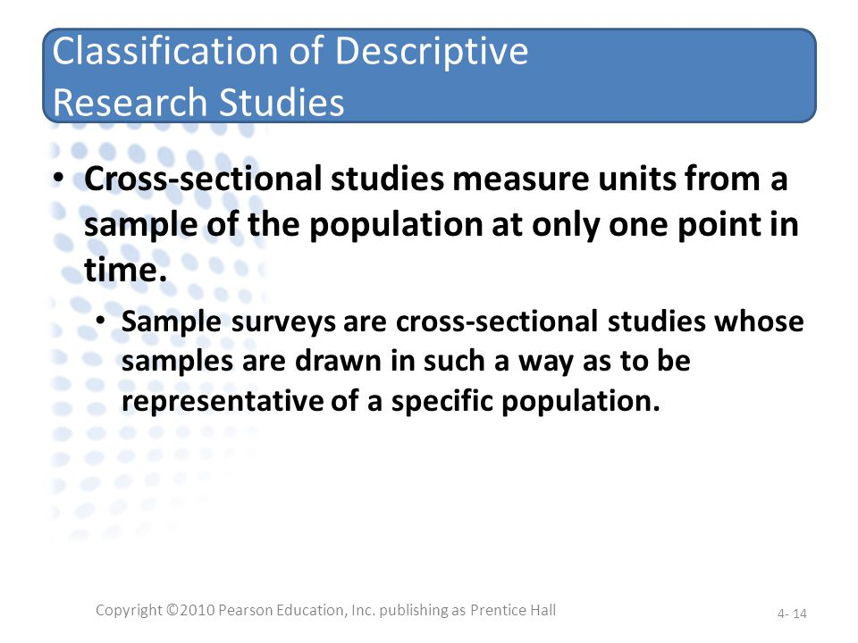 Classification of Descriptive Research Studies