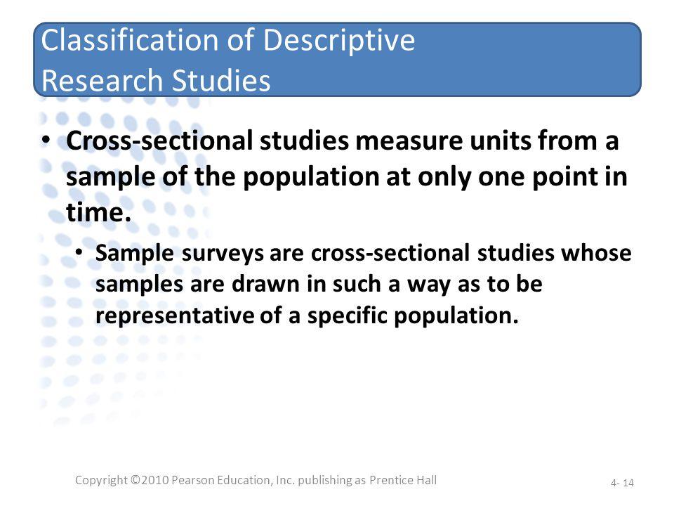 Classification of Descriptive Research Studies