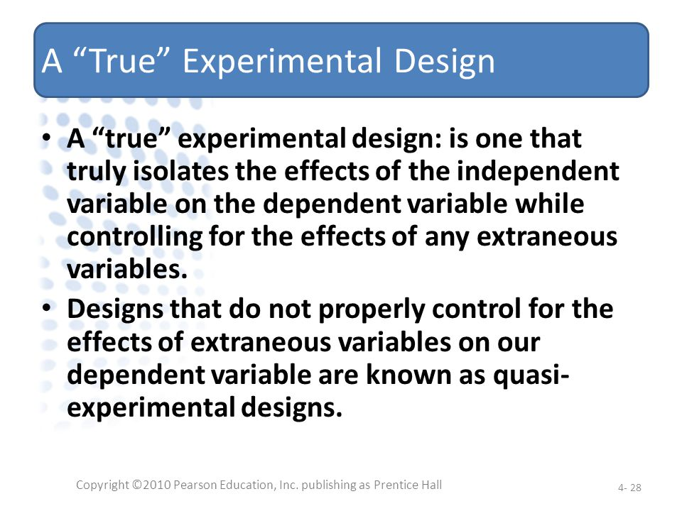 A True Experimental Design