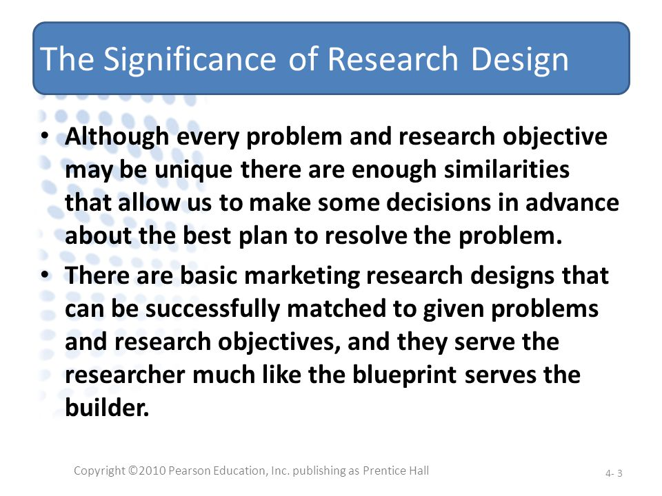 The Significance of Research Design