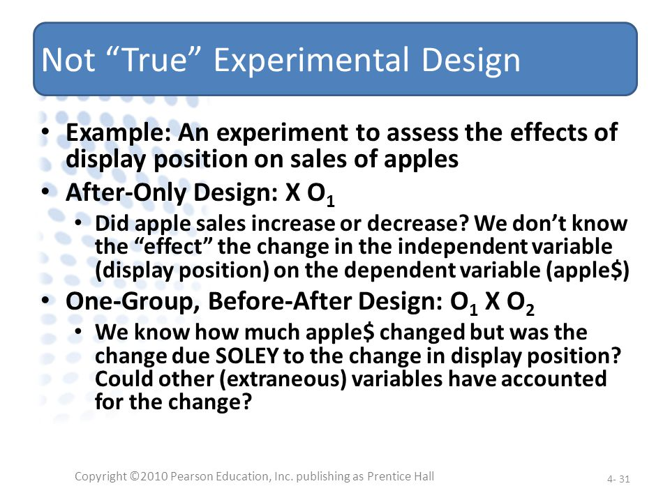 Not True Experimental Design
