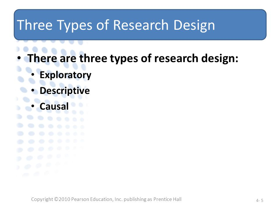 Three Types of Research Design