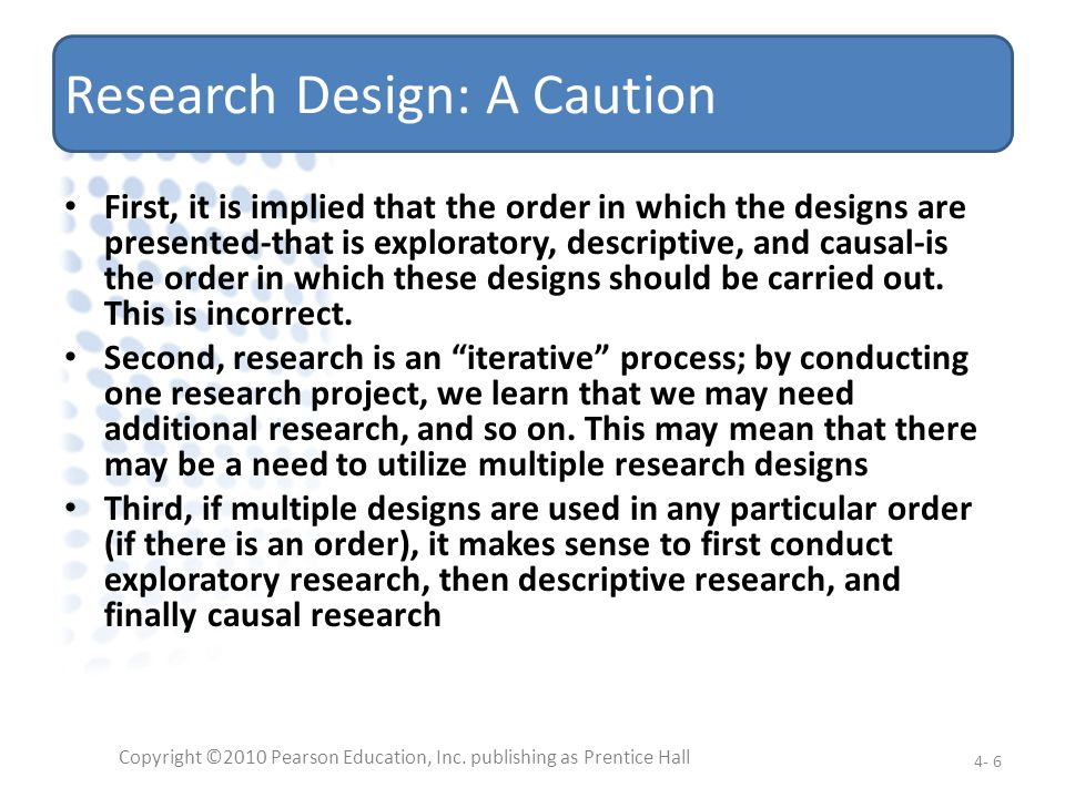 Research Design: A Caution