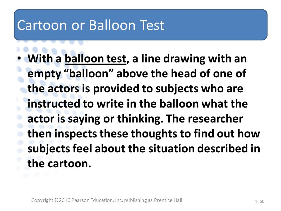Cartoon or Balloon Test