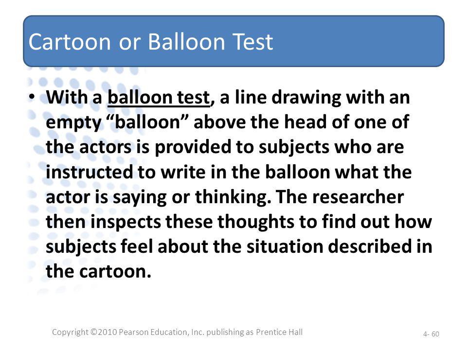 Cartoon or Balloon Test
