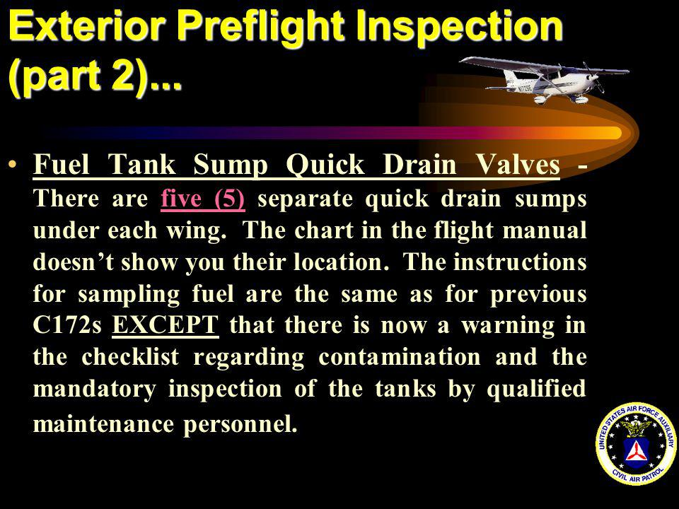 Exterior Preflight Inspection (part 2)...