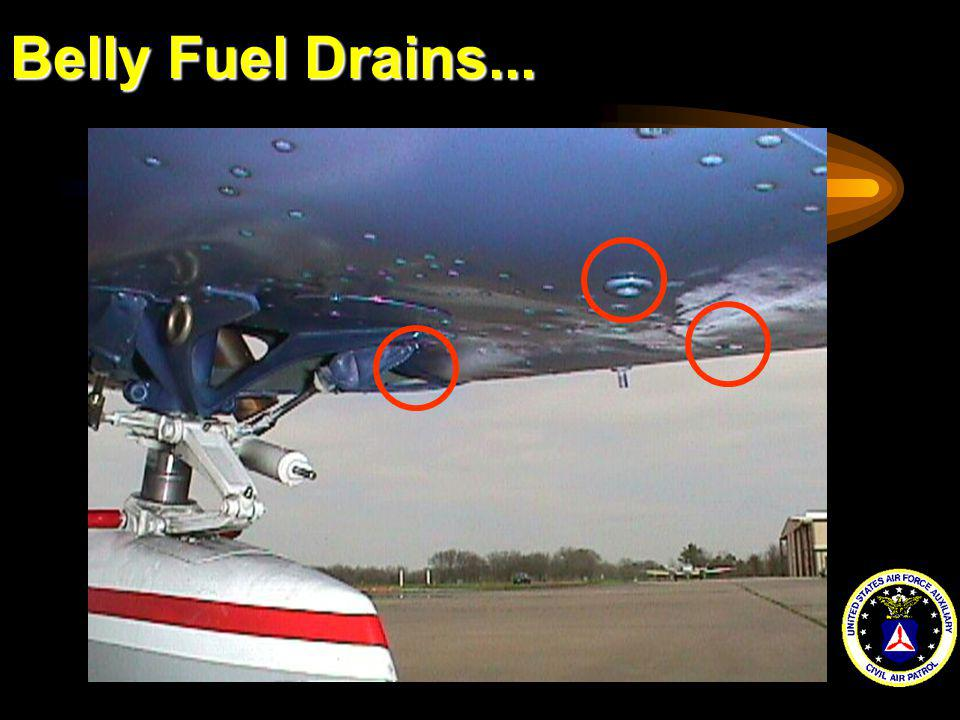 Belly Fuel Drains...