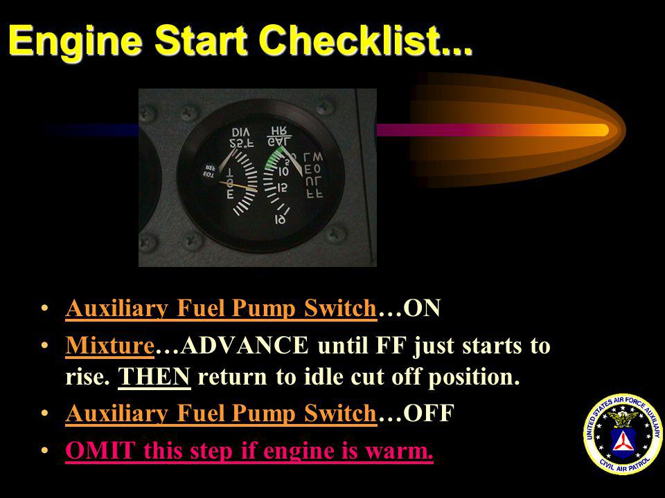 Engine Start Checklist...