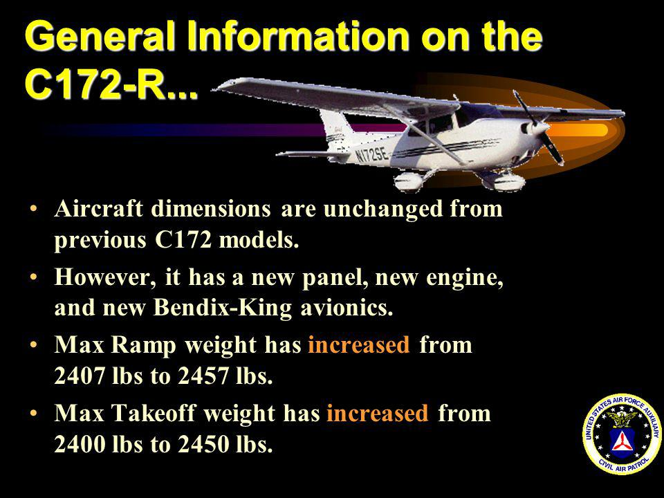 General Information on the C172-R...