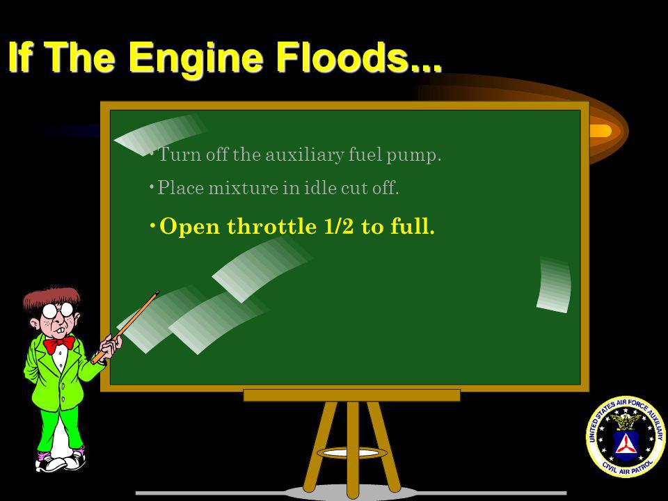 If The Engine Floods... Open throttle 1/2 to full.