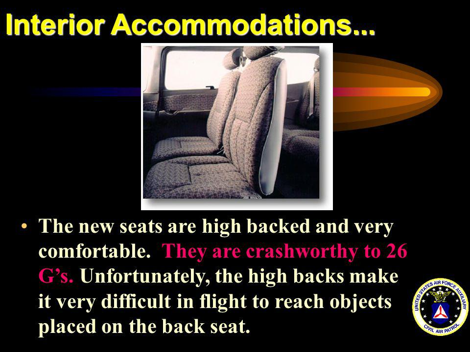 Interior Accommodations...