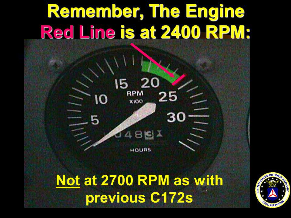 Remember, The Engine Red Line is at 2400 RPM: