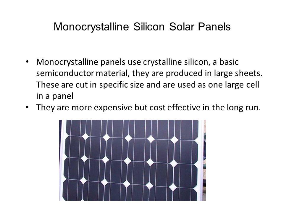 Monocrystalline Silicon Solar Panels