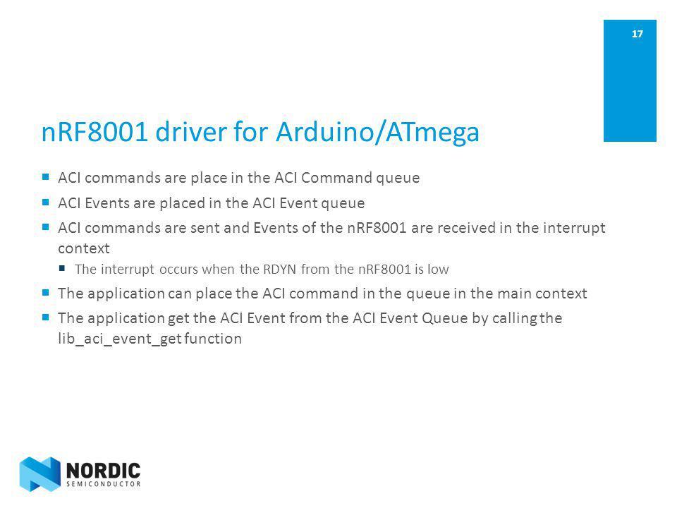 nRF8001 driver for Arduino/ATmega