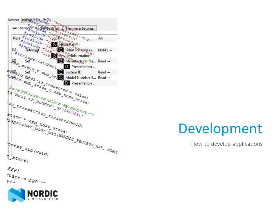 Development How to develop applications