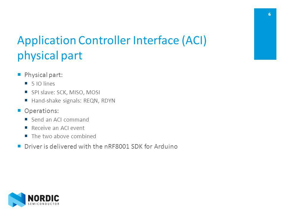 Application Controller Interface (ACI) physical part