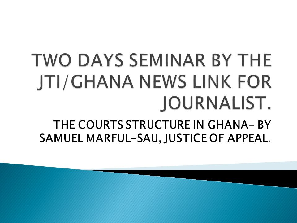 TWO DAYS SEMINAR BY THE JTI/GHANA NEWS LINK FOR JOURNALIST.
