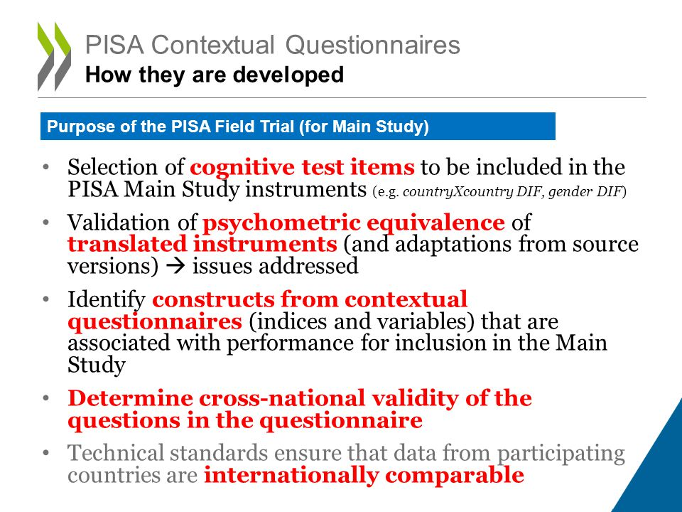 PISA Contextual Questionnaires How they are developed