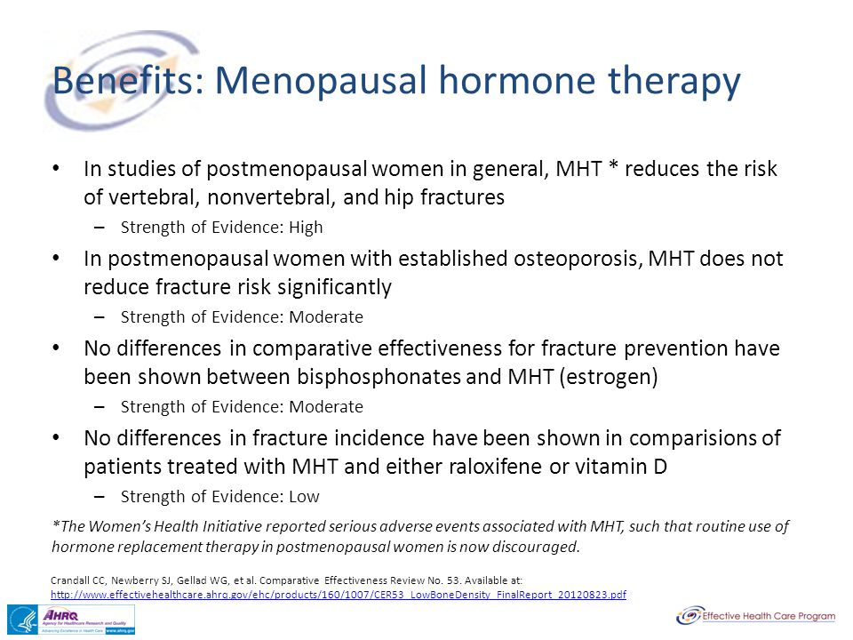 Benefits: Menopausal hormone therapy