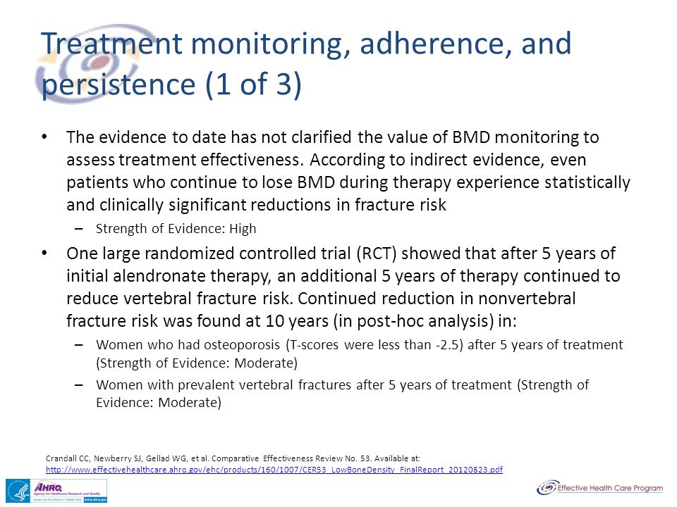 Treatment monitoring, adherence, and persistence (1 of 3)